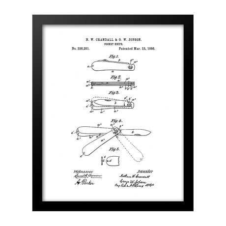 Pocket Knife Patent Print