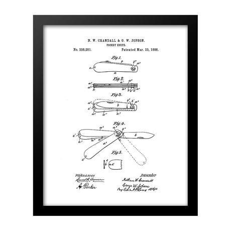 Pocket Knife Patent Print (Blue)