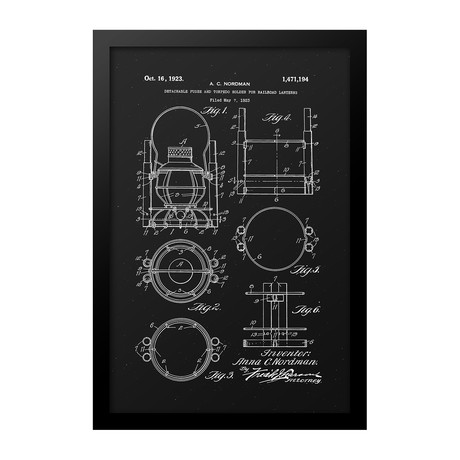 Lantern Patent Print (Black)