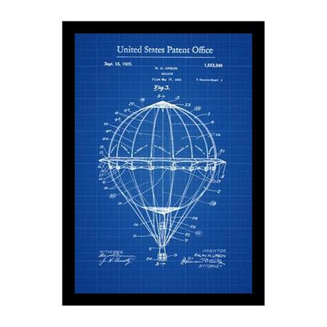 Hot Air Balloon Patent Print