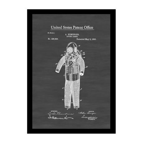 Diving Armor Patent Print