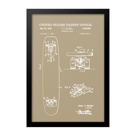 Skateboard Patent Print (Blue)
