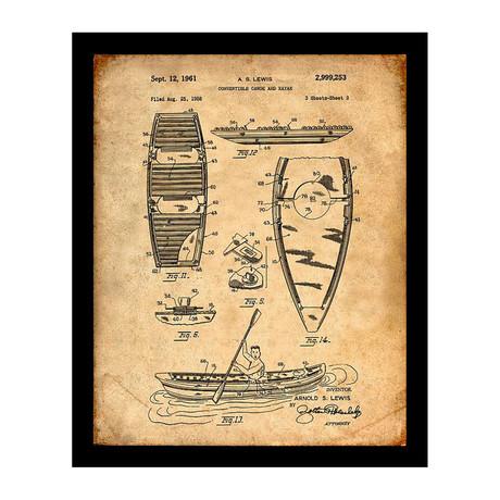 Canoe Patent Print