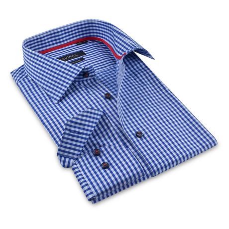Button-Up Shirt // Navy Gingham (S)