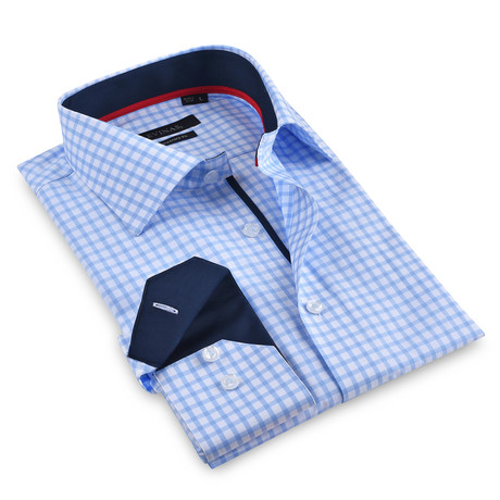 Button-Up Shirt // Blue Check (S)