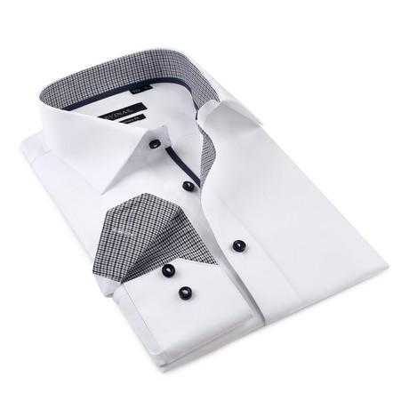 Alexander Button-Up Shirt // White + Black (S)