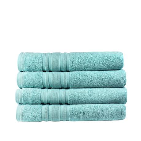 Haute Monde Bath Towel // 4-Piece Set // Reef Aqua