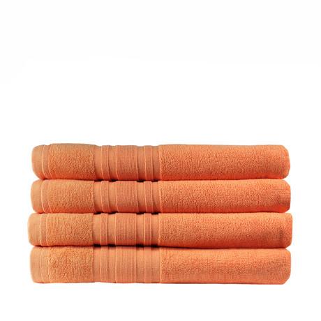 Haute Monde Bath Towel // 4-Piece Set // Cantaloupe