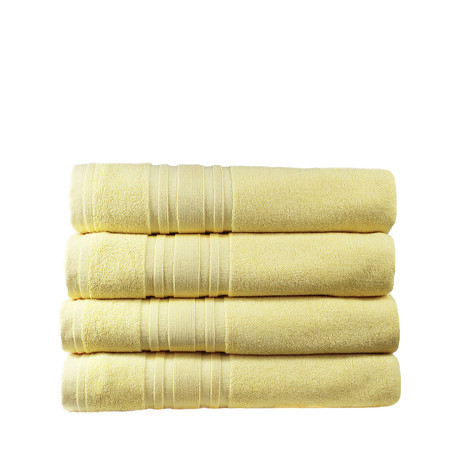 Haute Monde Bath Towel // 4-Piece Set // Dawn Yellow