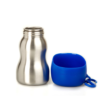 KONG Stainless Steel Dog Water Bottle // Blue
