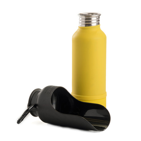 KONG Insulated Stainless Steel Dog Water Bottle // Yellow