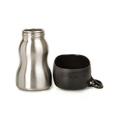KONG Stainless Steel Dog Water Bottle // Black