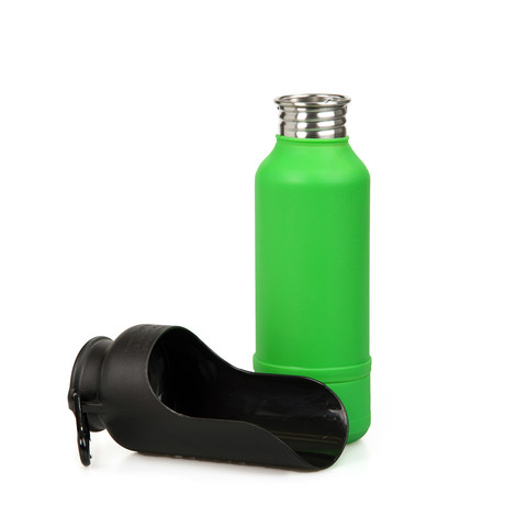 KONG Insulated Stainless Steel Dog Water Bottle // Green