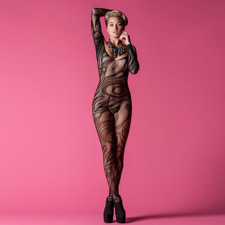 Long Sleeve Body Stocking // Black