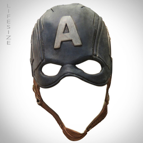 Captain America Mask + Custom Head Stands
