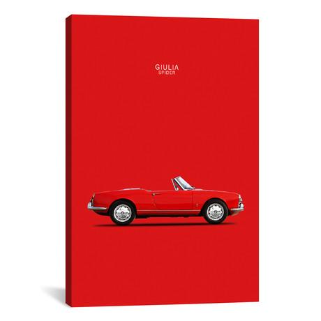 "1964 Alfa Romeo Giulia Spider (26""W x 18""H x 0.75""D)"