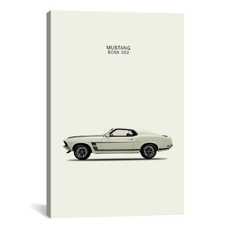 "1969 Ford Mustang Boss 302 (26""W x 18""H x 0.75""D)"