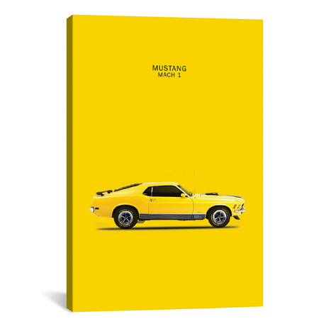 "1970 Ford Mustang Mach 1 (26""W x 18""H x 0.75""D)"