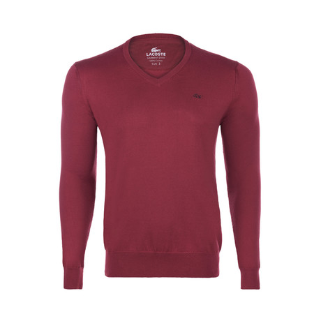V-Neck Jumper // Burgundy