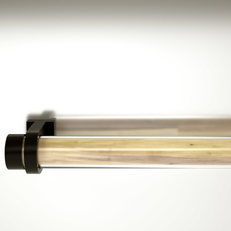 Wooden REED // Tulip Finish + Black Plastic Holder
