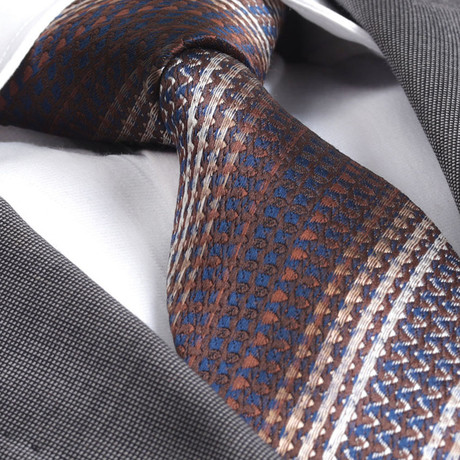 Knitted Silk Tie // Brown