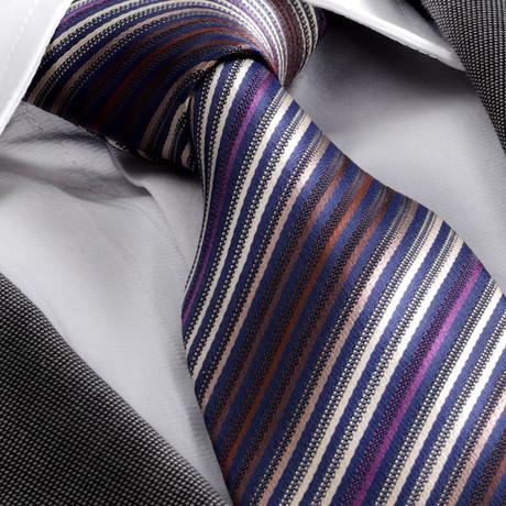 Striped Silk Tie // Blue + Purple