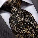 Dimitri Silk Tie // Black + Gold