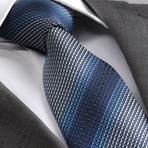 Three Shade Silk Tie // Blue