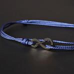 Infinity Cord Bracelet // Blue + Black