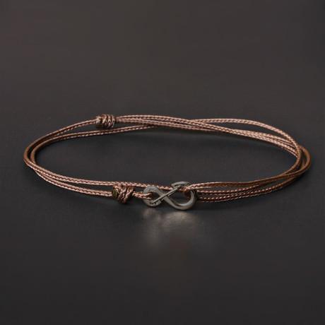 Infinity Cord Bracelet // Brown + Black