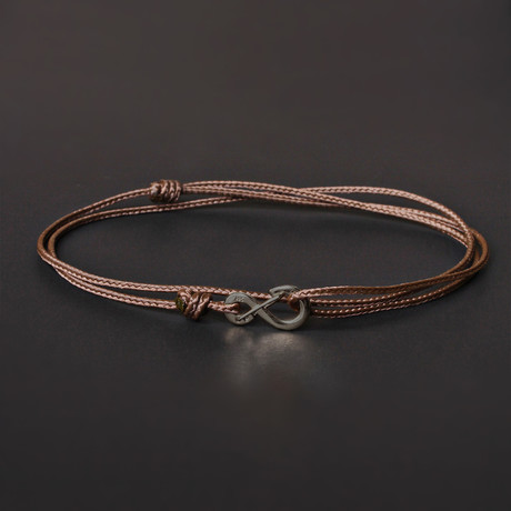 Infinity Cord Bracelet // Brown + Black