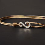 Infinity Cord Bracelet // Taupe + Silver