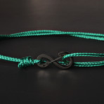 Infinity Cord Bracelet // Green + Black