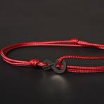 Infinity Cord Bracelet // Red + Black