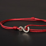 Infinity Cord Bracelet // Red + Silver