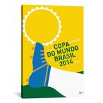 "2014 World Cup Soccer Brazil Rio Minimal Poster // Chungkong (26""W x 40""H x 1.5""D)"