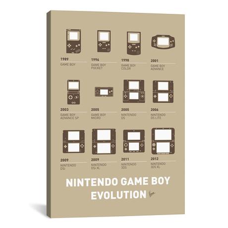 "Evolution Nintendo Game Boy Minimal Poster // Chungkong (12""W x 18""H x 0.75""D)"