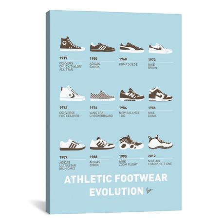 "Evolution Sneaker Minimal Poster (26""W x 18""H x 0.75""D)"