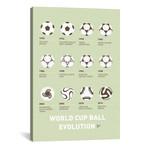 "Evolution Soccer Ball Minimal Poster // Chungkong (26""W x 40""H x 1.5""D)"