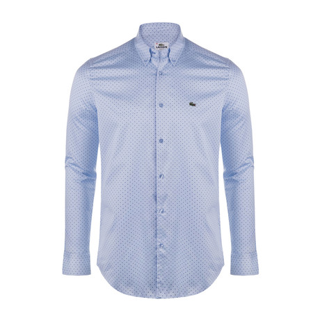 Slim Fit Dotted Shirt // Light Blue