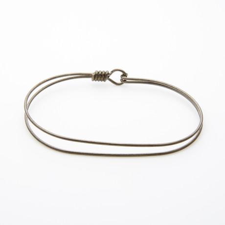 "Double Wrap Plated Bracelet // Black (7"" // Small)"