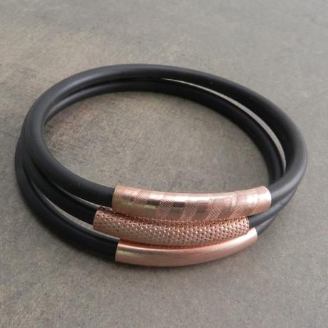 """Ameez Bracelet // Set of 3 // Brass (7"""" // Small)"""