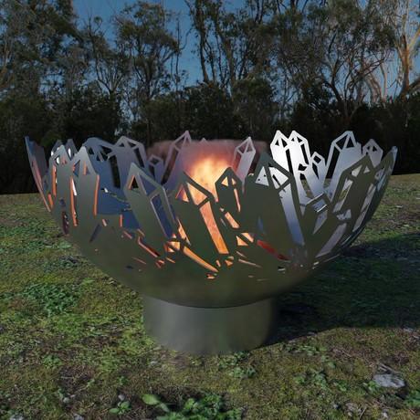 "Crystal Firebowl (30"" Raw Steel)"