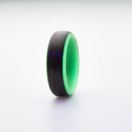 Carbon Fiber Glow Ring // Black + Green