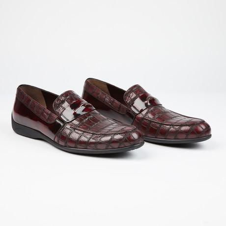 Laser Leather loafer // Burgundy