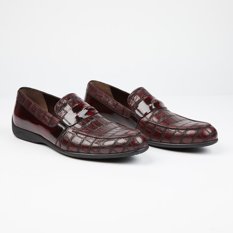 Laser Leather Loafer // Burgundy (US: 7)