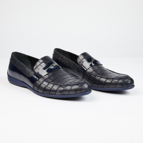Laser Leather Loafer // Navy (US: 7)