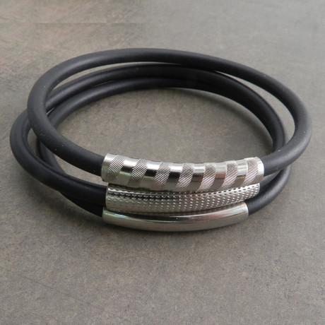"Ameez Bracelet // Set of 3 // Silver (7"" // Small)"