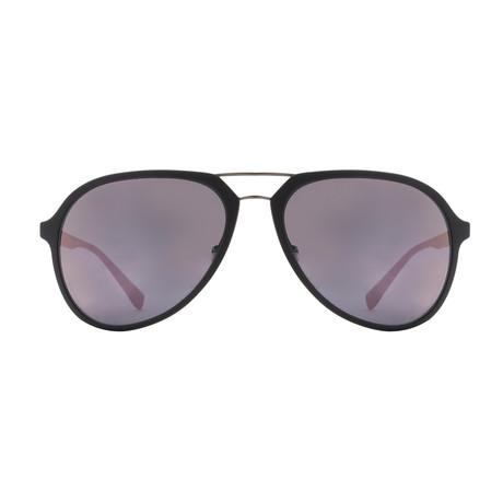 Prada Plastic Sport Unisex Sunglasses // Gray Rubber