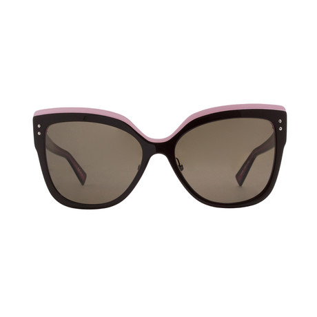 Dior // Women's Exquise Sunglasses // Brown + Pink